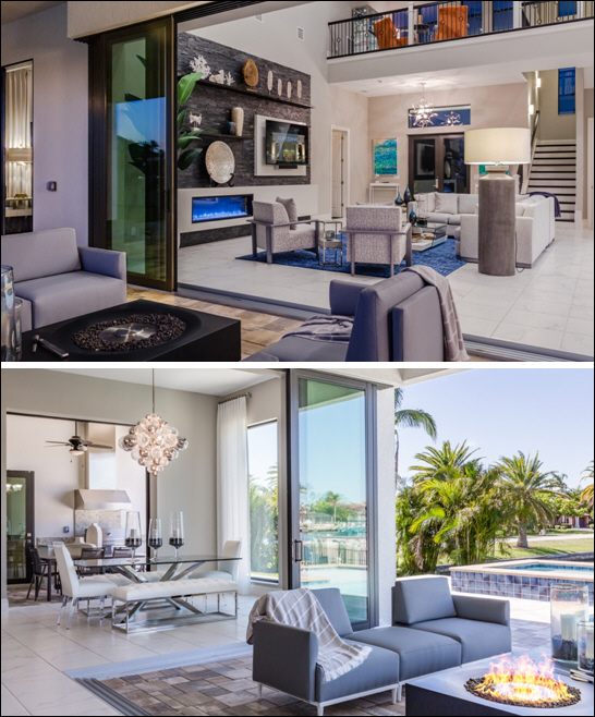 Clive Daniel Home Installs Interiors for Sailboat Access Custom Home by Aubuchon Homes