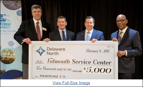 Sea Crest Beach Hotel and Delaware North Donate $5,000 to Support the Falmouth Service Center