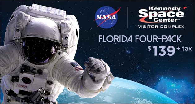 Kennedy Space Center Visitor Complex Offers Floridians the Universe for Less with the Florida Four-Pack