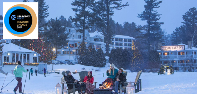 USA TODAY/10Best Readers Vote AAA Four Diamond Mirror Lake Inn Second Best Ski Hotel in North America