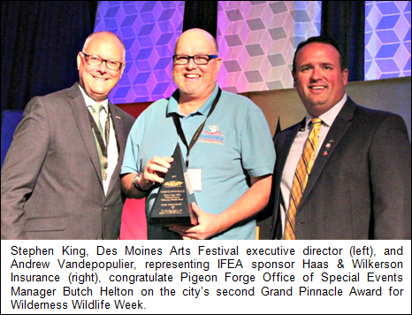 Pigeon Forge Receives Record-setting 25 International Events Awards